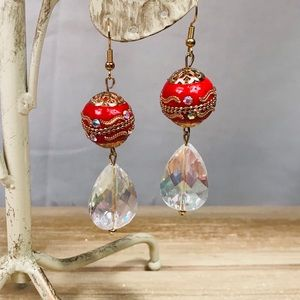 Red Moroccan Style Earrings